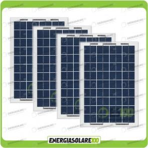 Stock 4 Pannelli Solari 10W 12V
