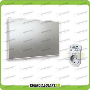 Kit Termosifone Quadro Riscaldamento a Infrarossi a specchio 600W + Termostato max 25mq
