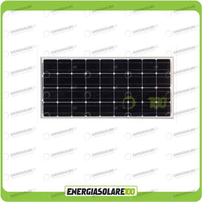 Pannello Solare 100w Per Camper : Pannello solare fotovoltaico w v mono camper barca