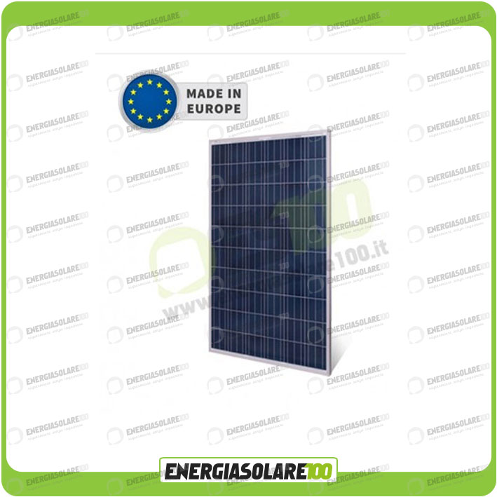 panneau solaire photovoltaique 250w poly made in europe. Black Bedroom Furniture Sets. Home Design Ideas
