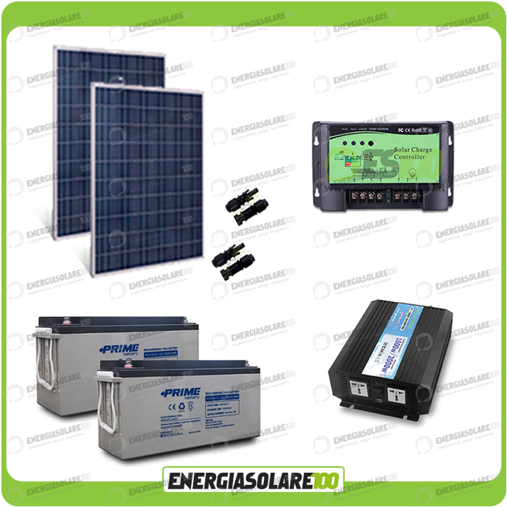 kit solaire photovoltaique panneaux 500w convertisseur pur 1000w 220v 24v batter. Black Bedroom Furniture Sets. Home Design Ideas