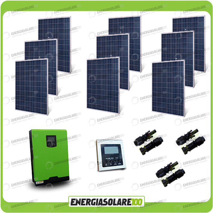 kit solaire photovoltaique 2250w pv onduleur pur sinus 5kw 48v r gulateur mppt 8 ebay. Black Bedroom Furniture Sets. Home Design Ideas