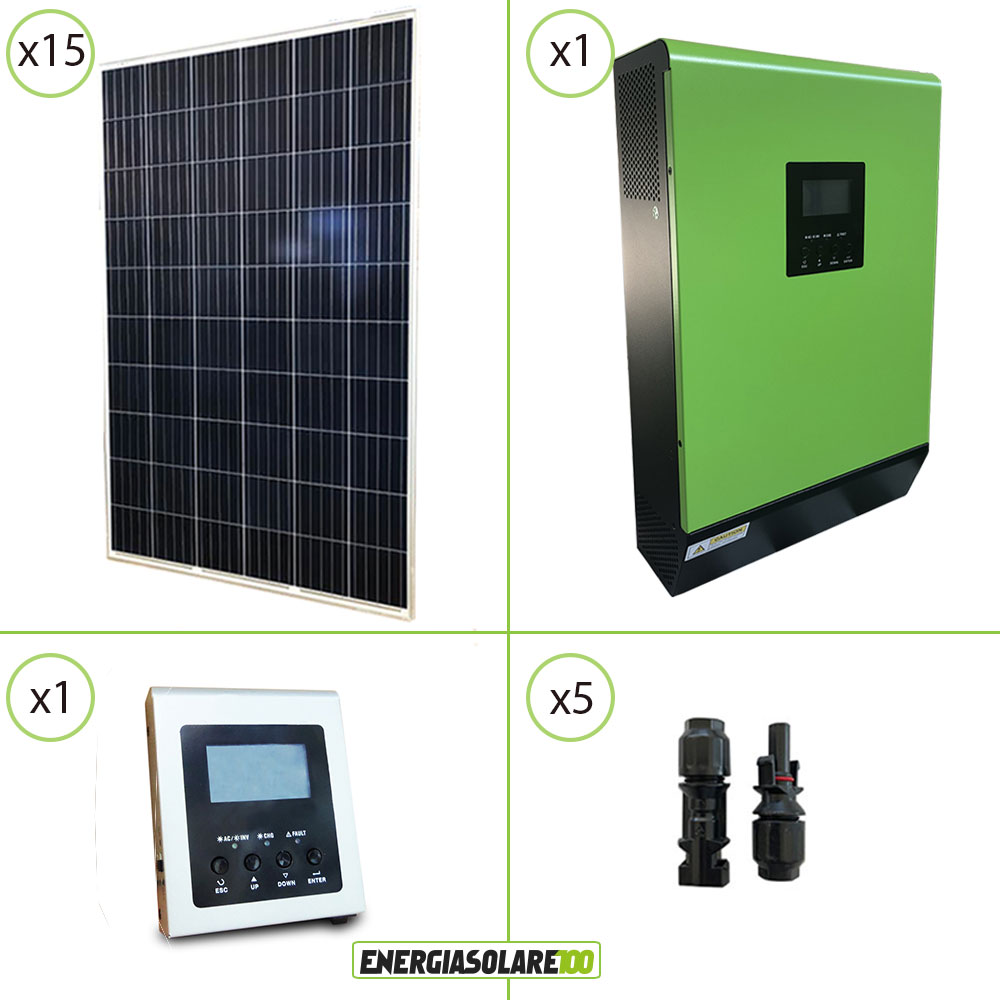 kit panneau solaire photovoltaique pour maison 4kw pv convertisseur pur sinus ge ebay. Black Bedroom Furniture Sets. Home Design Ideas