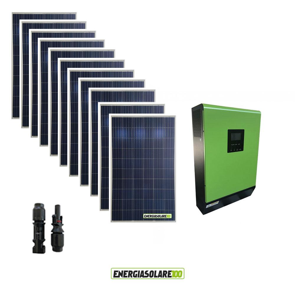 kit panneau solaire photovoltaique 3kw convertisseur pur. Black Bedroom Furniture Sets. Home Design Ideas