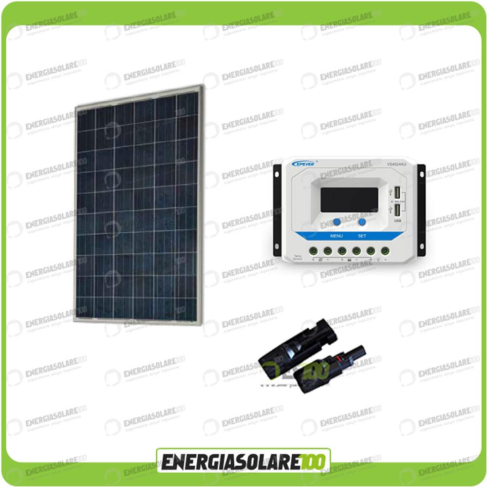 kit photovoltaique 24v panneau solaire 250w r gulateur de. Black Bedroom Furniture Sets. Home Design Ideas