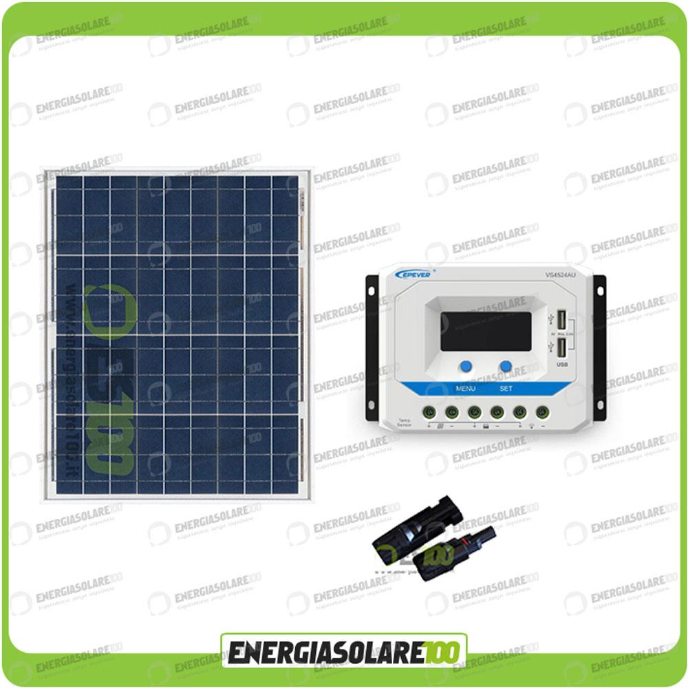 kit photovoltaique 12v panneau solaire 80w r gulateur vs1024au 10a usb ebay. Black Bedroom Furniture Sets. Home Design Ideas