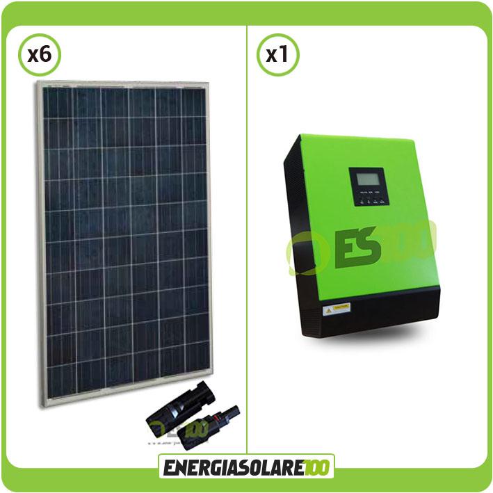 kit panneau solaire photovoltaique maison 1 5kw convertisseur pur sinus 5kw 48v ebay. Black Bedroom Furniture Sets. Home Design Ideas