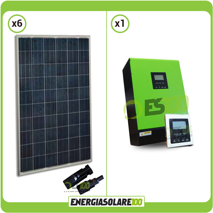kit photovoltaique panneau solaire maison 1 5kw pv convertisseur onduleur 5kw 48 ebay. Black Bedroom Furniture Sets. Home Design Ideas