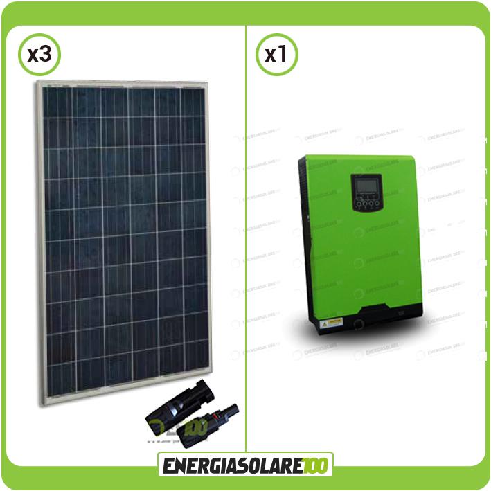 Kit panneaux solaires 750w 24v convertisseur onduleur hybride 3kw maison - Panneaux solaires hybrides ...