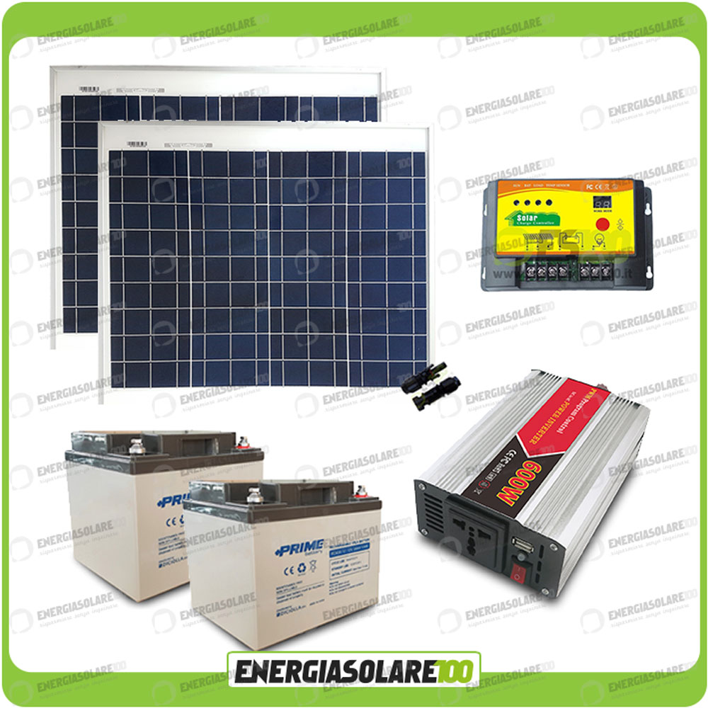 kit chalet panneau solaire 100w convertisseur 600w dc ac 24v 220v r gulateur eps ebay. Black Bedroom Furniture Sets. Home Design Ideas