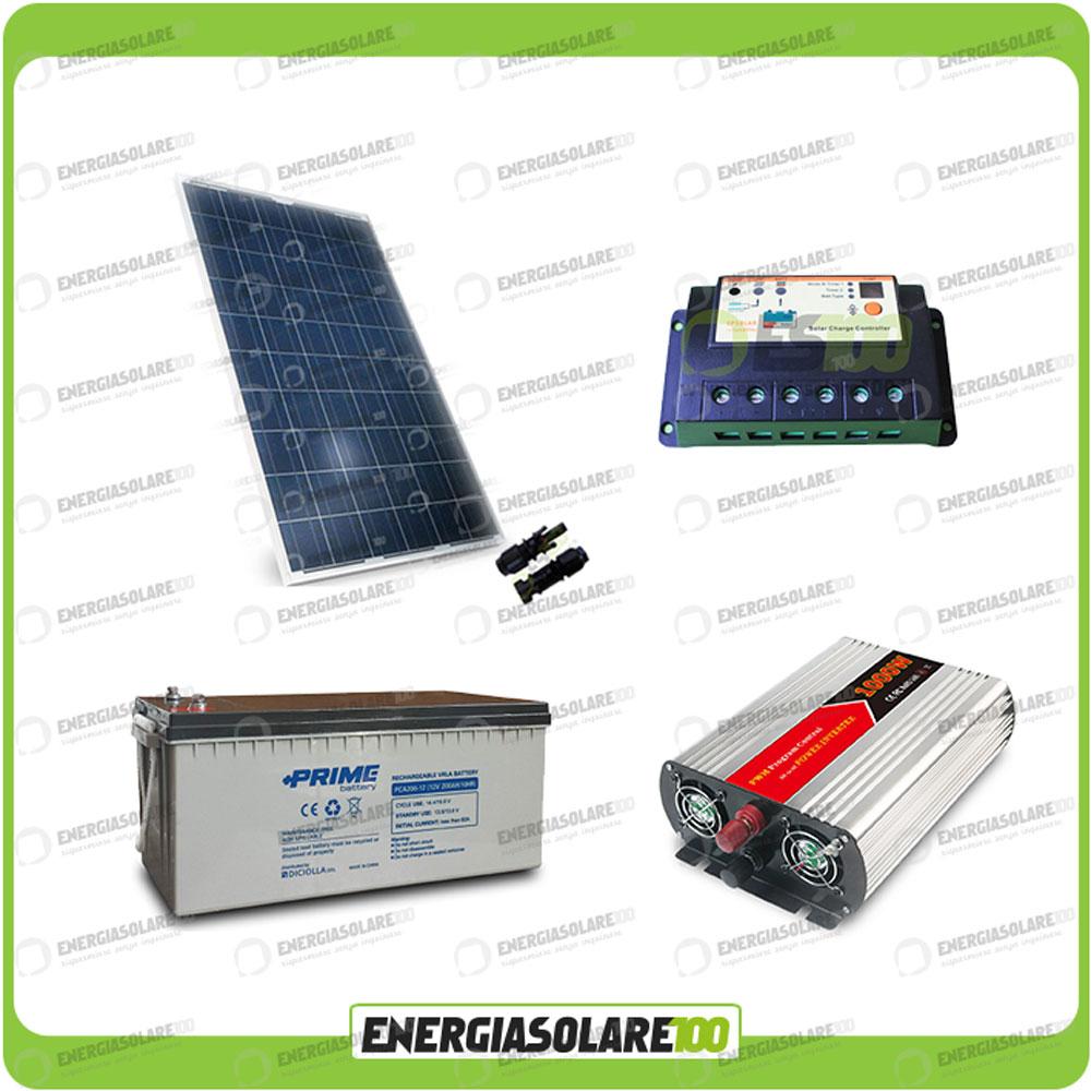 Kit Pannello Solare Inverter : Kit baita pannello solare w v inverter onda
