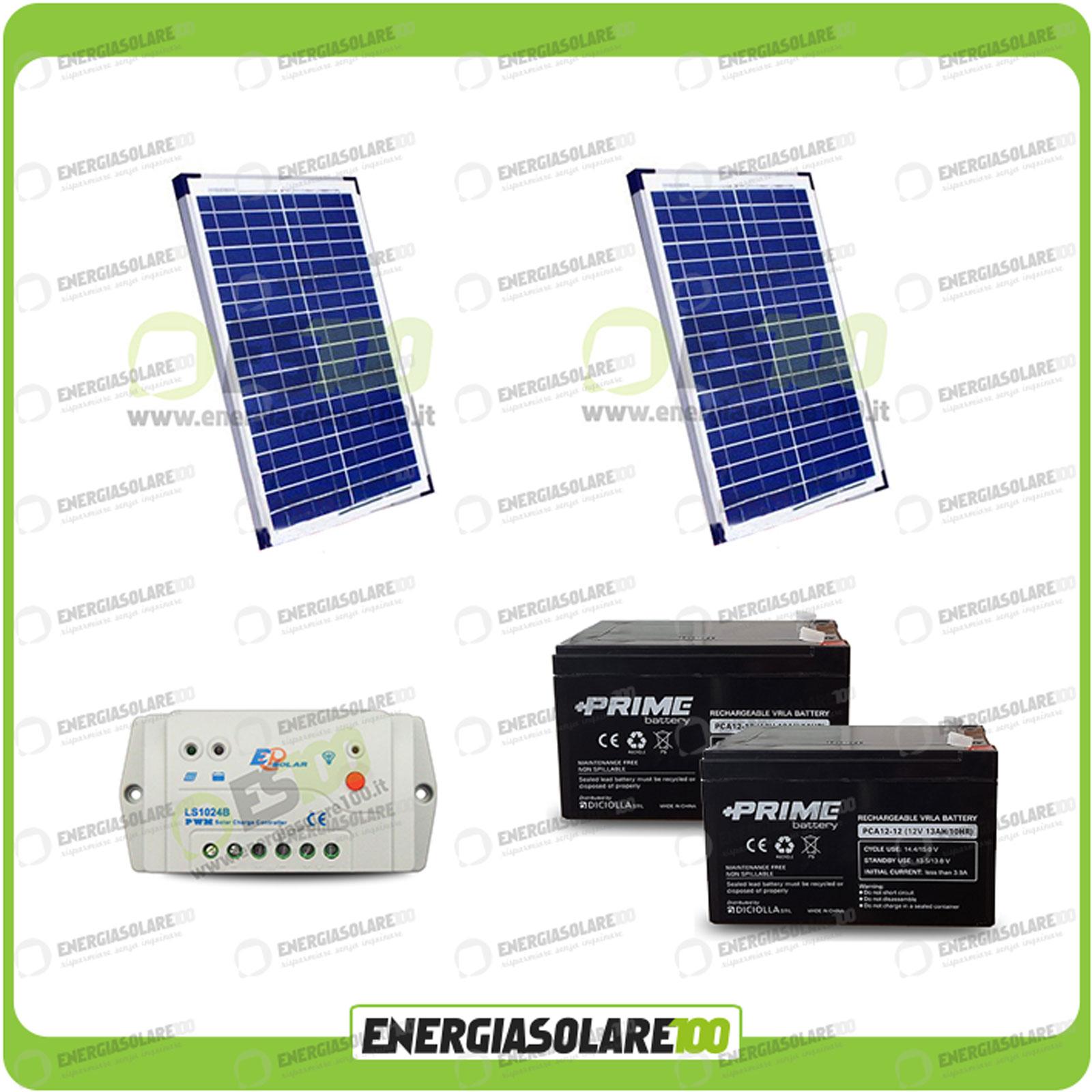 Kit portail solaire lectrique 40w 24v panneaux r gulateur for Portail electrique solaire