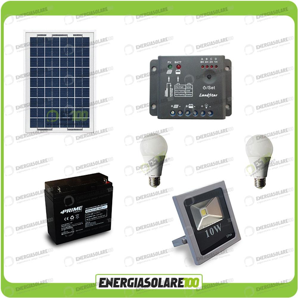 kit clairage solaire photovoltaique panneau projecteur. Black Bedroom Furniture Sets. Home Design Ideas