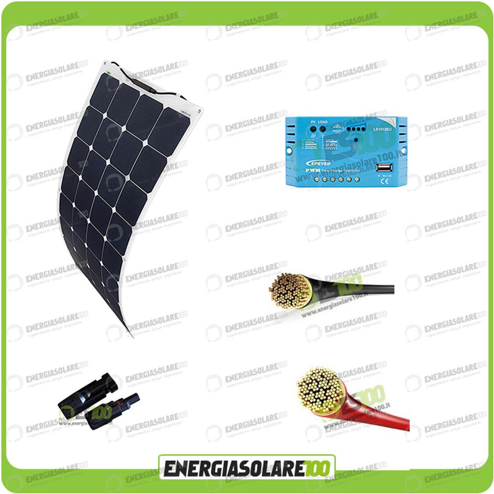Kit Pannello Solare Roulotte : Kit solare fotovoltaico roulotte caravan pannello w v