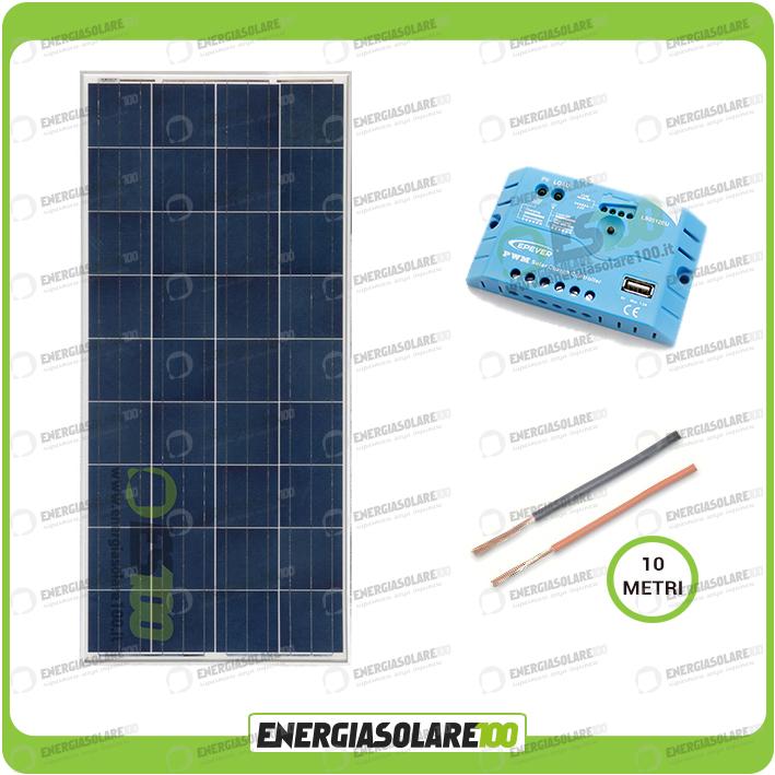 kit solaire roulotte camping car panneau solaire 150w 12v regulateur de charge ebay. Black Bedroom Furniture Sets. Home Design Ideas