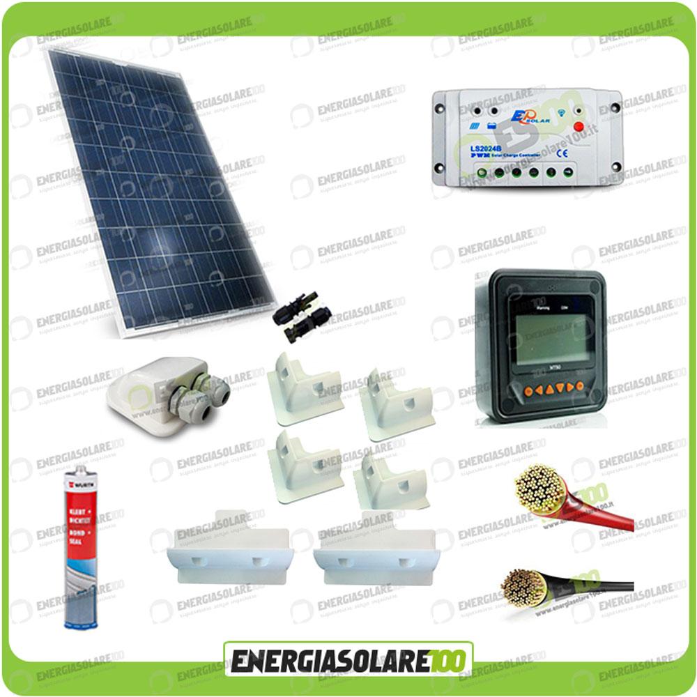 Kit Pannello Solare Roulotte : Kit solare fotovoltaico pro roulotte caravan da w v