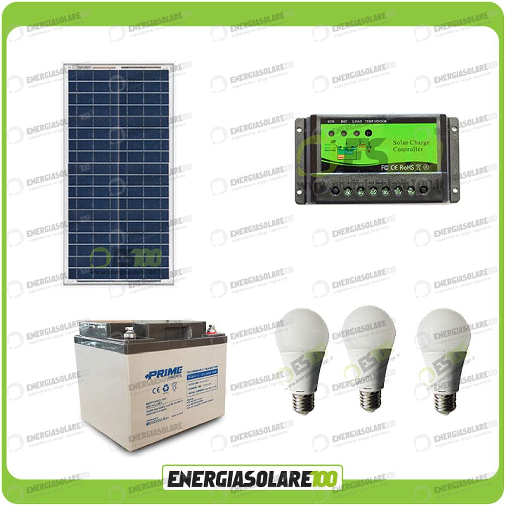 Kit Pannello Solare Led : Kit illuminazione stalla baita pannello solare w ore