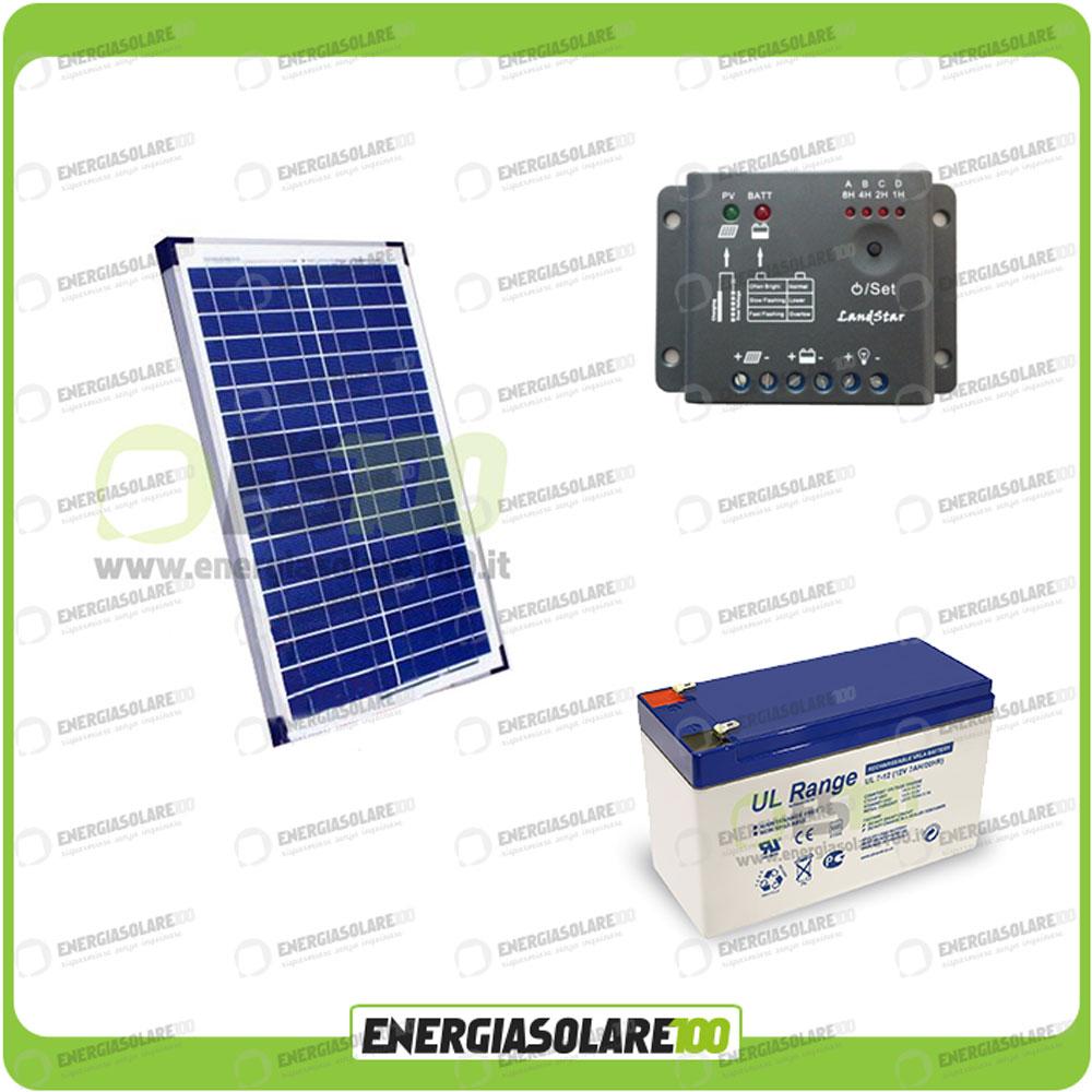 kit panneau solaire 20w 12v r gulateur de charge pwm 5a battterie 7ah ebay. Black Bedroom Furniture Sets. Home Design Ideas
