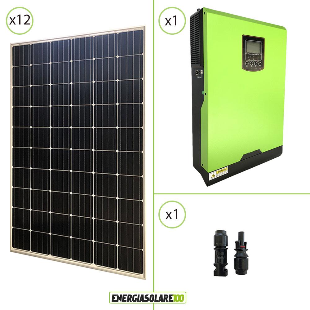 kit maison panneaux solaires 3 6kw 24v convertisseur. Black Bedroom Furniture Sets. Home Design Ideas