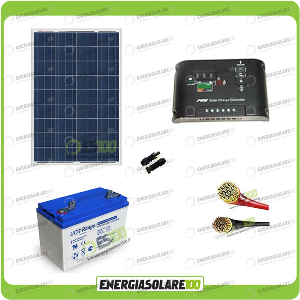 kit starter panneau solaire 100w 12v r gulateur de charge 10a 12v pwm batterie g ebay. Black Bedroom Furniture Sets. Home Design Ideas