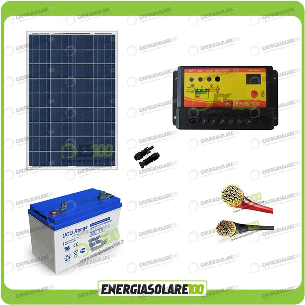 kit panneau solaire 100w 12v batterie gel 100ah jardin camping car ebay. Black Bedroom Furniture Sets. Home Design Ideas
