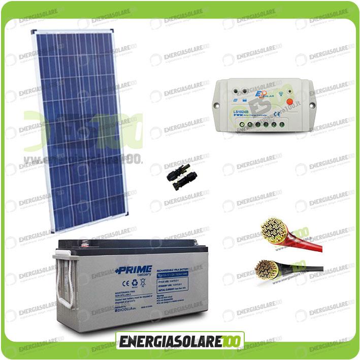 kit panneau solaire 150w 12v poly r gulateur de charge 10a. Black Bedroom Furniture Sets. Home Design Ideas