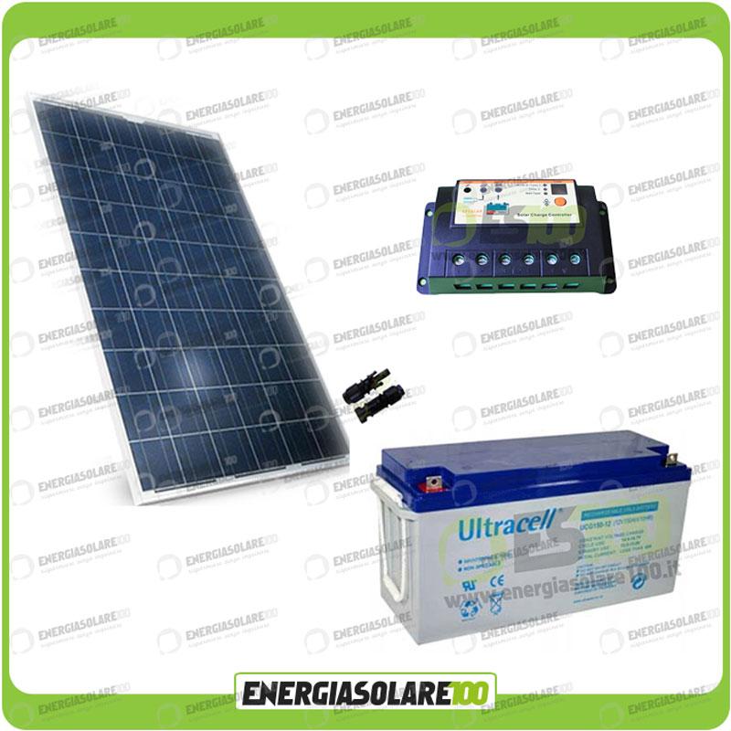 kit panneau solaire 200w 12v batterie gel 150ah r gulateur. Black Bedroom Furniture Sets. Home Design Ideas