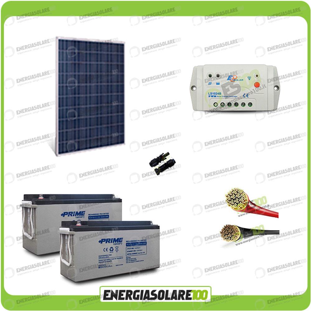 Kit Pannello Solare Policristallino : Kit pannello solare w v policristallino regolatore