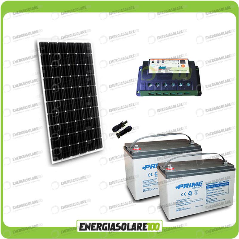 kit panneau solaire 300w 24v batterie agm 100ah r gulateur. Black Bedroom Furniture Sets. Home Design Ideas