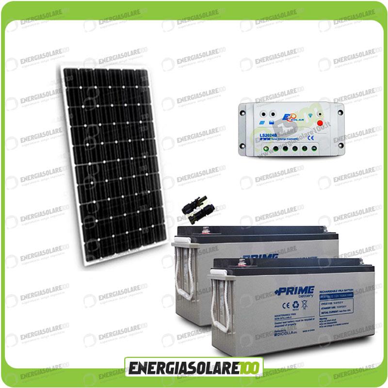 kit panneau solaire 300w 24v batterie agm 150ah r gulateur. Black Bedroom Furniture Sets. Home Design Ideas