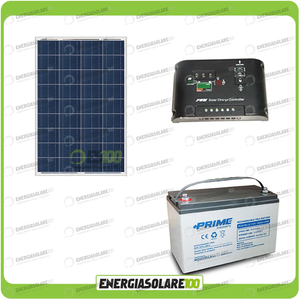 kit panneau solaire photovoltaique 80w 12v batterie agm 100ah r gulateur de cha. Black Bedroom Furniture Sets. Home Design Ideas