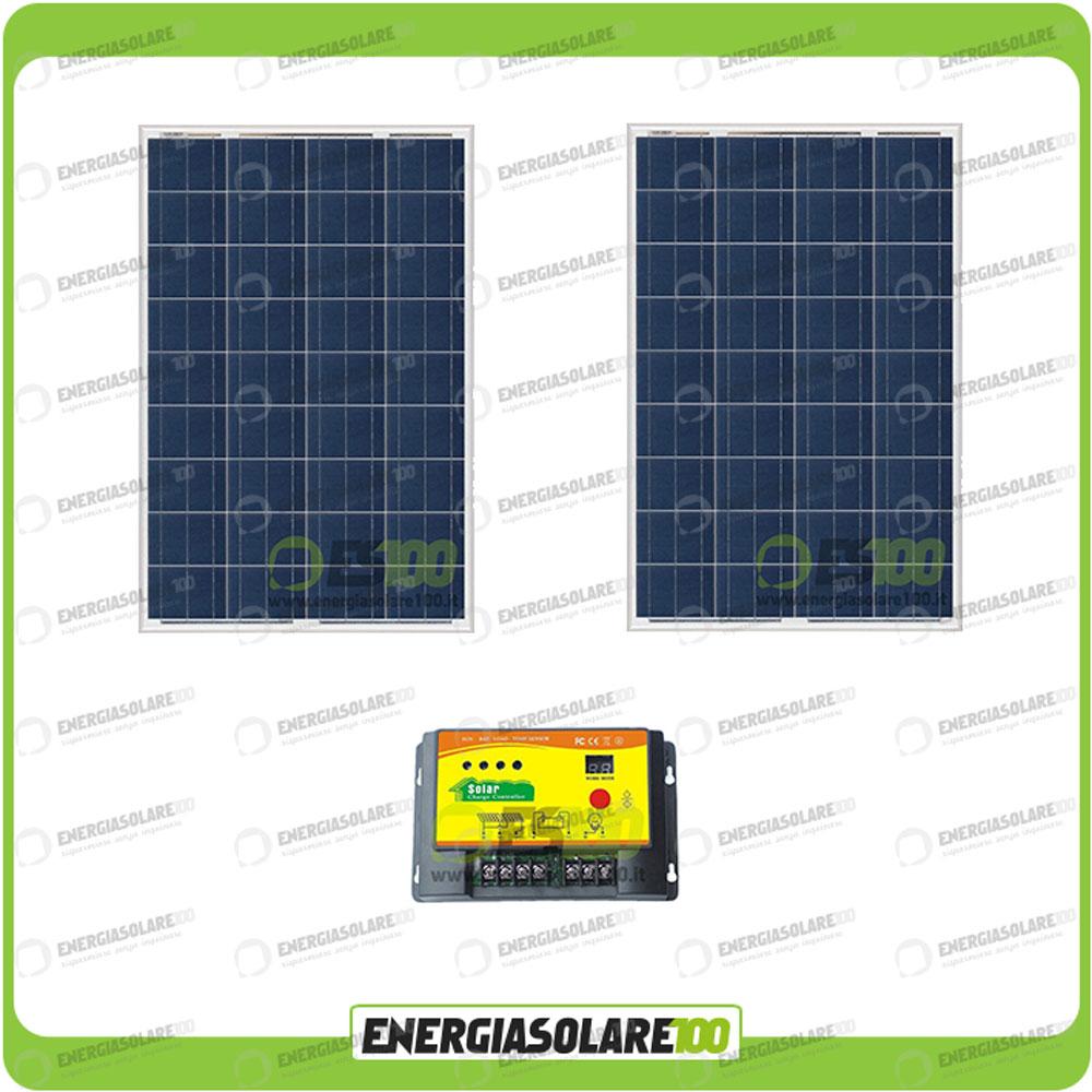 kit solaire avec panneau solaire 160w 12v r gulateur de charge 20a chalet abri m ebay. Black Bedroom Furniture Sets. Home Design Ideas