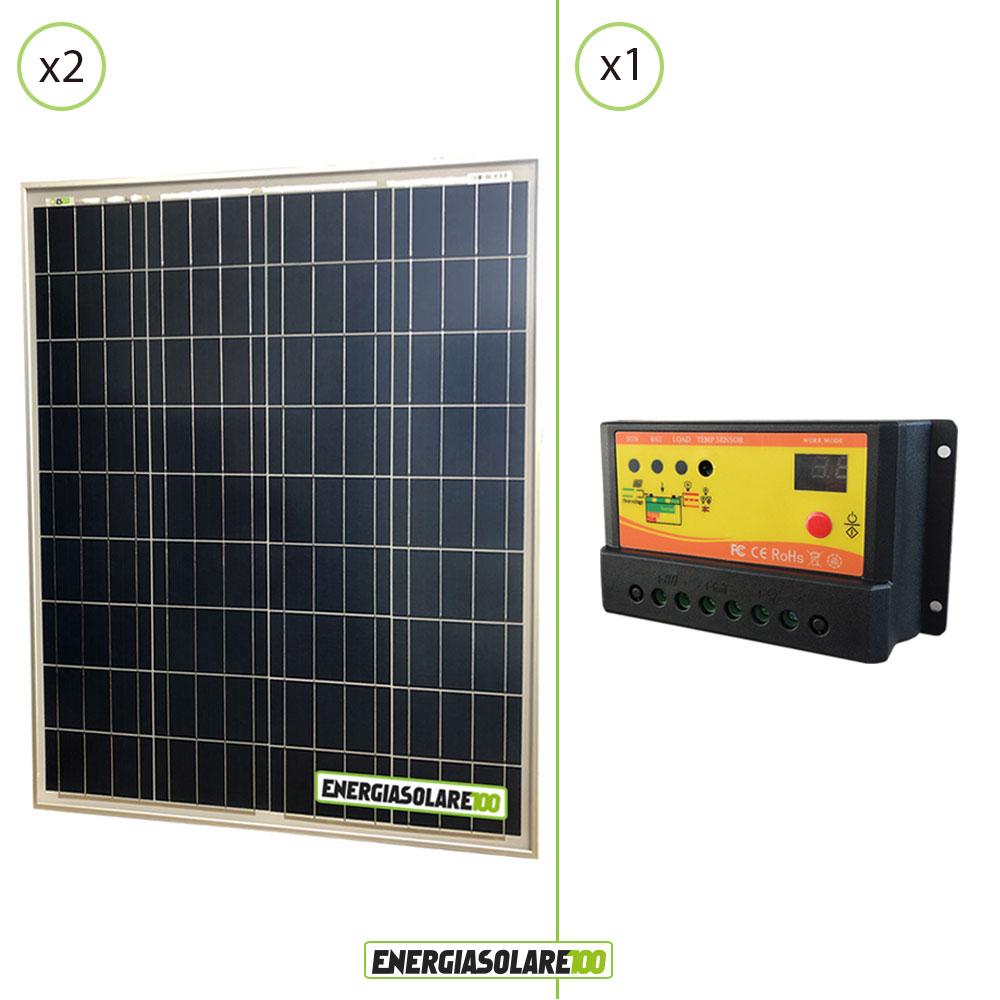 kit solaire avec panneau solaire 160w 12v r gulateur de. Black Bedroom Furniture Sets. Home Design Ideas
