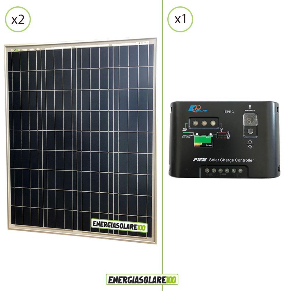kit panneau solaire 160w 24v r gulateur epsolar 10a chalet abri maison ebay. Black Bedroom Furniture Sets. Home Design Ideas