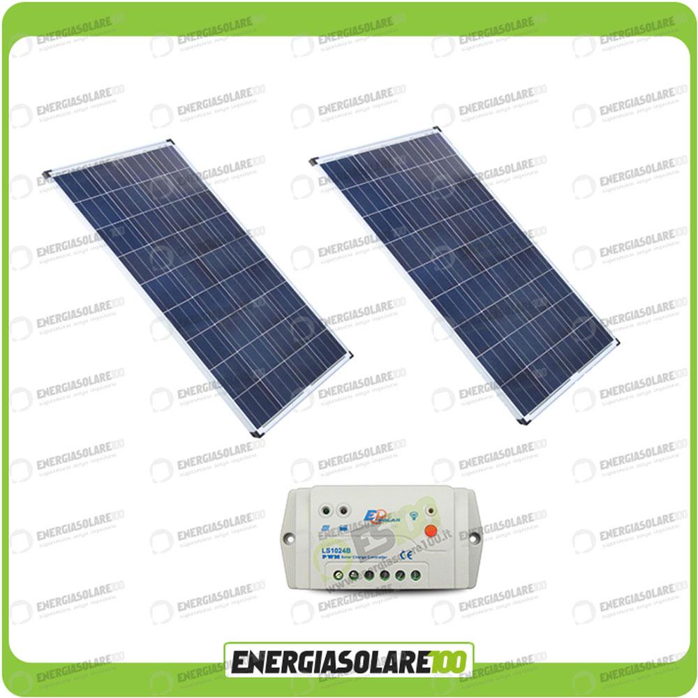 kit panneau solaire 160w 24v 2 x 80w r gulateur de. Black Bedroom Furniture Sets. Home Design Ideas