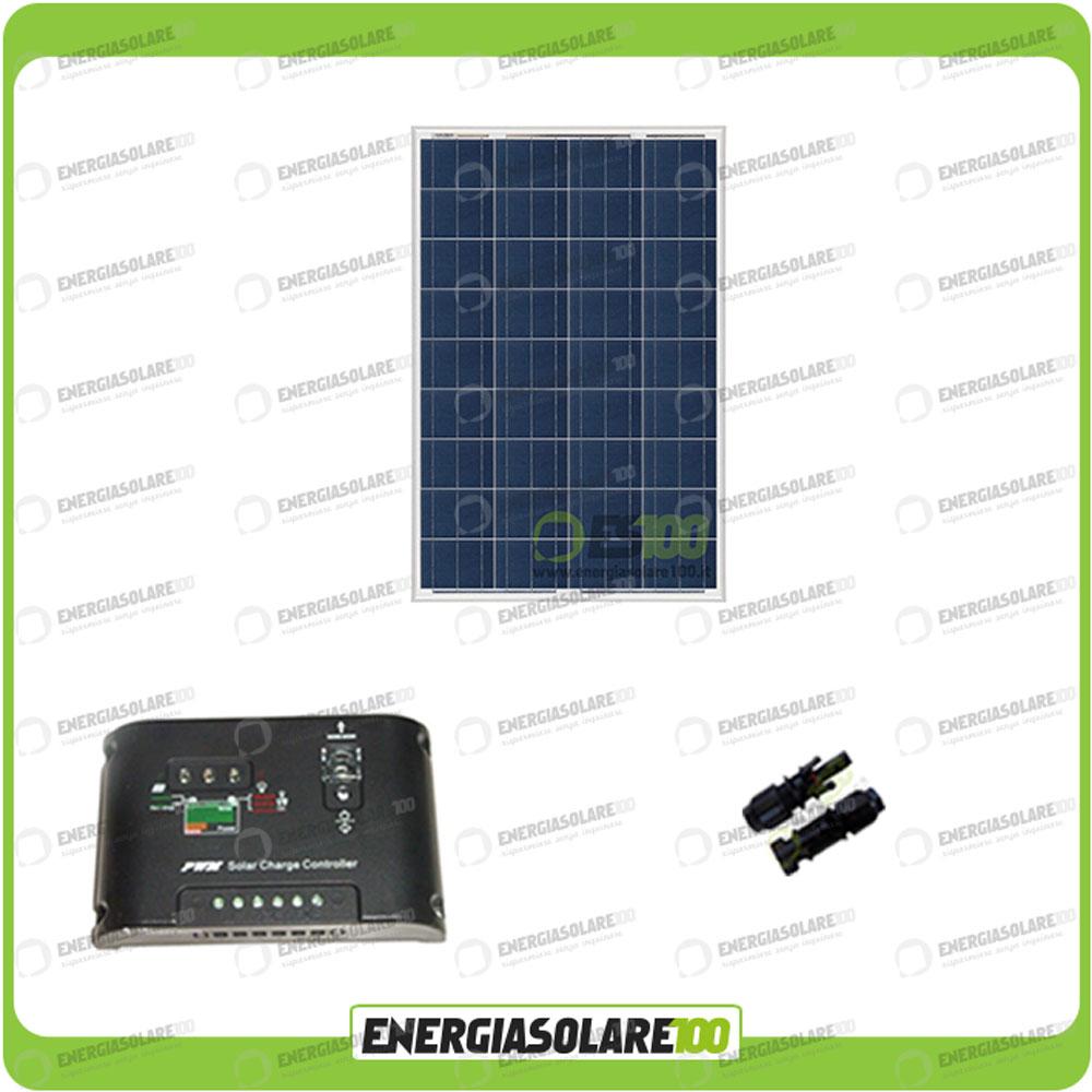 kit solaire photovoltaique panneau 100w 12v r gulateur 10a epsolar campingcar. Black Bedroom Furniture Sets. Home Design Ideas