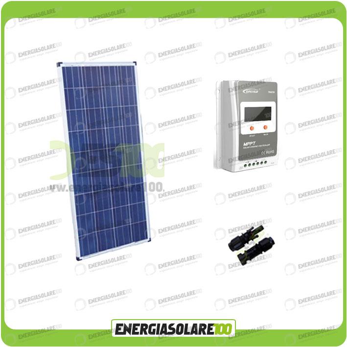 kit solaire panneau solaire 100w 12v polycristallin. Black Bedroom Furniture Sets. Home Design Ideas