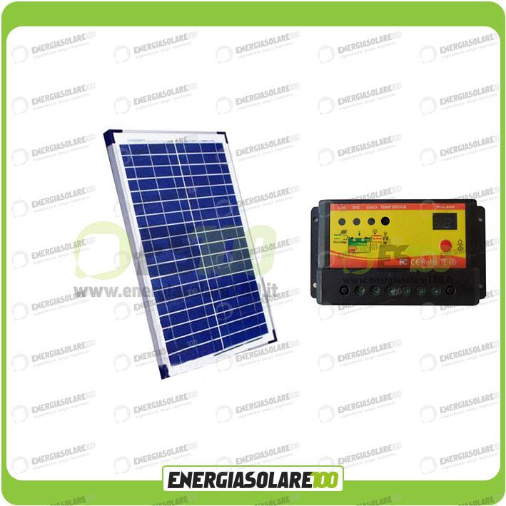 kit panneau solaire photovoltaique 20w 12v r gulateur de. Black Bedroom Furniture Sets. Home Design Ideas