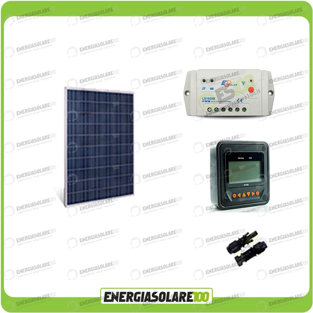 Regolatore Del Pannello Solare : Kit solare fotovoltaico europeo w v regolatore