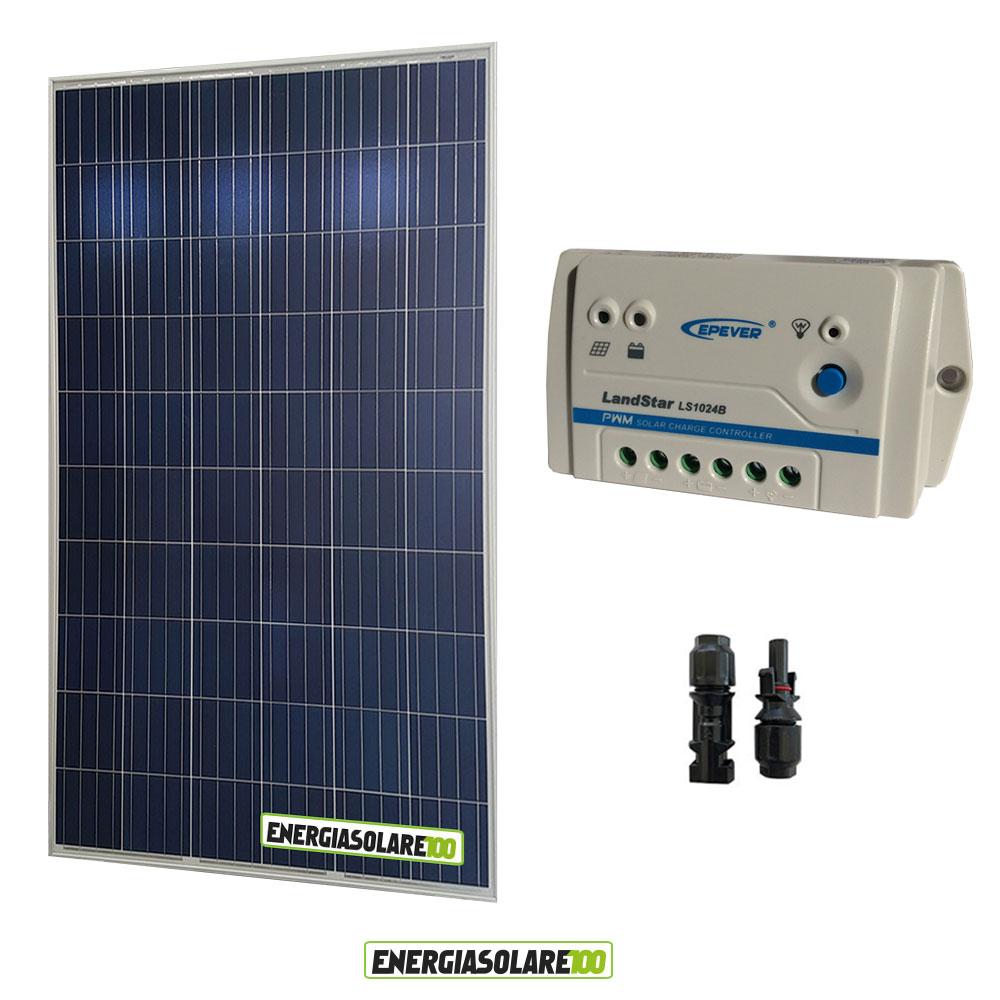 kit panneau solaire 250w 24v poly r gulateur de charge ls. Black Bedroom Furniture Sets. Home Design Ideas