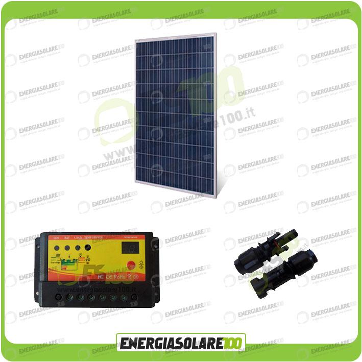 Regolatore Del Pannello Solare : Kit pannello solare fotovoltaico w v regolatore di