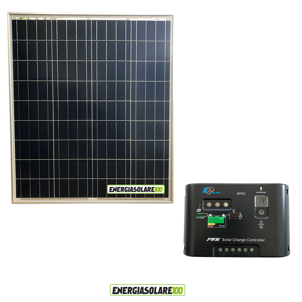 kit starter panneau solaire 80w 12v r gulateur de charge pwm 10a 12v ep10 ebay. Black Bedroom Furniture Sets. Home Design Ideas