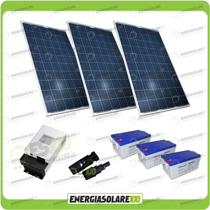 kit solare 600w alimentazione video sorveglianza 12volt per dvr e 10 telecamera ebay. Black Bedroom Furniture Sets. Home Design Ideas