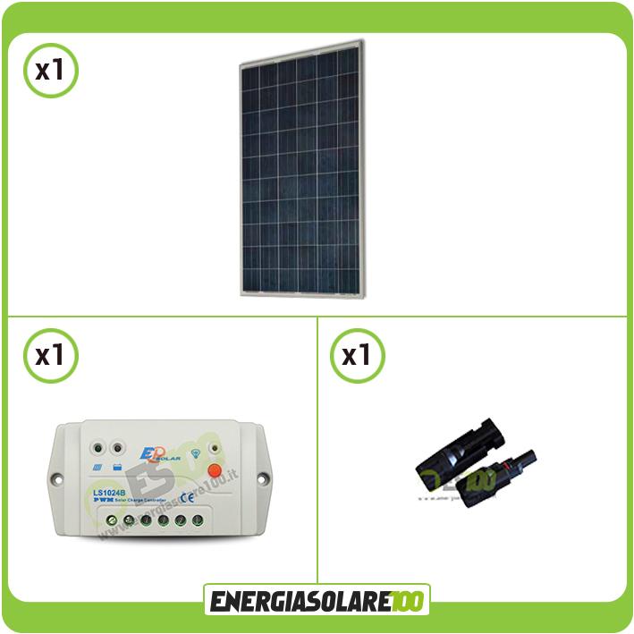 kit panneau solaire photovoltaique poly 250w 24v r gulateur de charge pwm 10a ls ebay. Black Bedroom Furniture Sets. Home Design Ideas