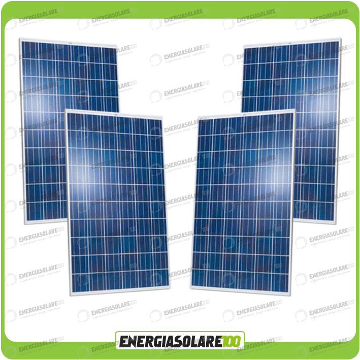 4 european photovoltaic panneau solaire 250w 24v tot 1000w maison baita stand a ebay. Black Bedroom Furniture Sets. Home Design Ideas