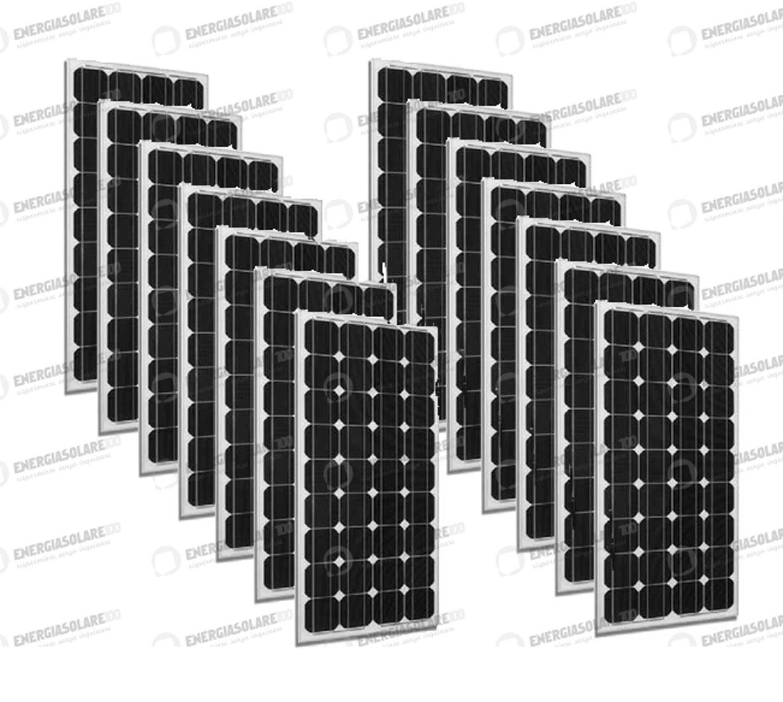 14 x Placas solares paneles Fotovoltaicos Europeos 300W 24V tot. 4200W caravana casa hogar