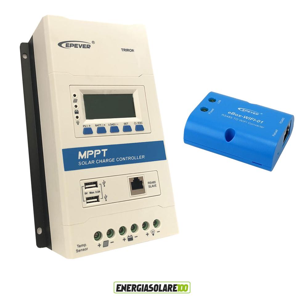 Dettagli su Regolatore di carica MPPT TRIRON3210N 30A 12V 24V DISPLAY DS2  UCS wifi box